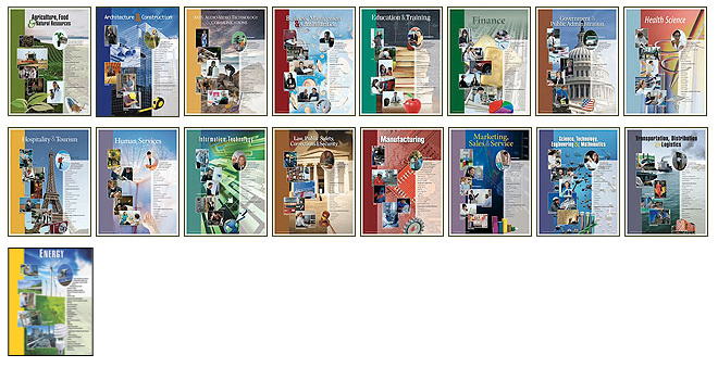 CareerBookstore.com: Introduction to Career Clusters Poster Set ...