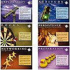 Job Search Pointers Laminted Poster Set - 6 Posters