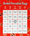 Alcohol Abuse Prevention Bingo