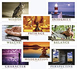 Mind, Body & Spirit - Laminated Poster Set